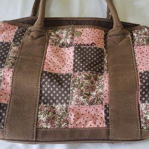 LIG Life Is Good Patchwork Purse Tote Bag